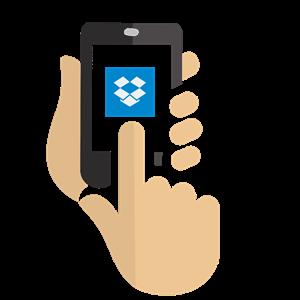 Dropboxの動画をiPhoneにダウンロードする